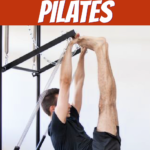 healthy man doing pilates workout