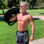athletic man over 50 keeping fit