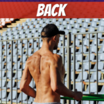 man developing his back muscles