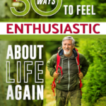 mature man hiking outdoors enthusiastically