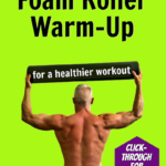fit, older athlete exercising with foam roller