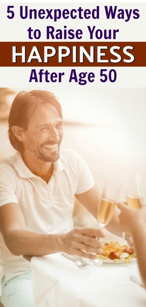 happy man in his fifties