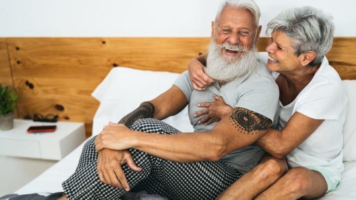 fit senior couple enjoying longevity lifestyle