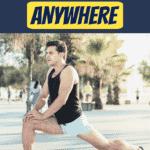 man doing leg exercises in park
