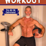 mature athlete preparing for workout on vibe plate