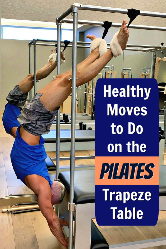 mature athlete using trapeze table