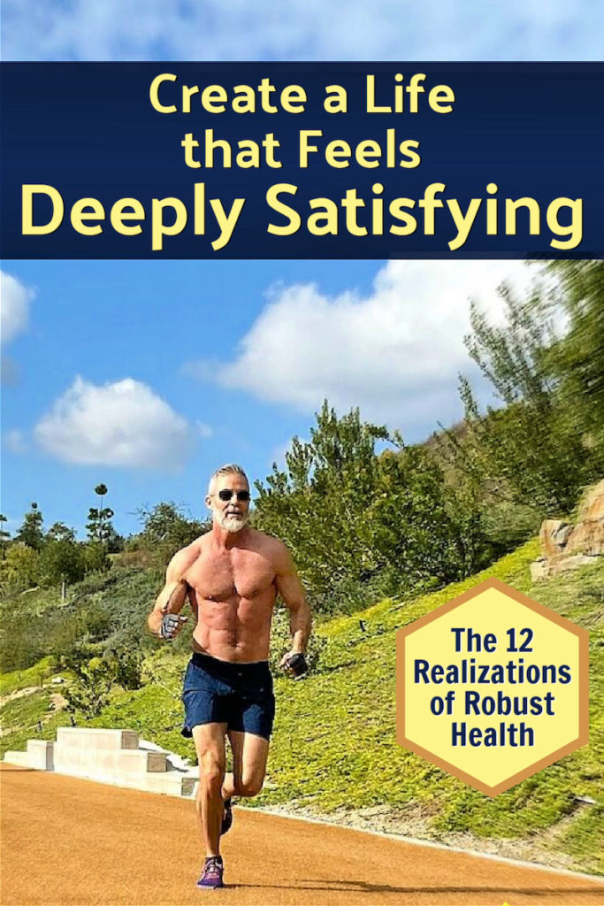 mature, fit male athlete having realizations while running outdoors