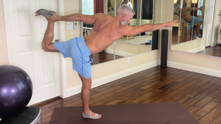 yoga standing routine over 50