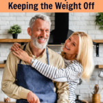 mature, healthy couple following intelligent dieting tips in their kitchen