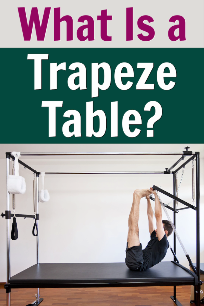 pilates tower exercises on the trapeze table