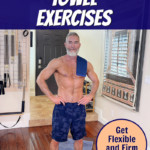 Dane Findley prepares for towel exercises in home gym.